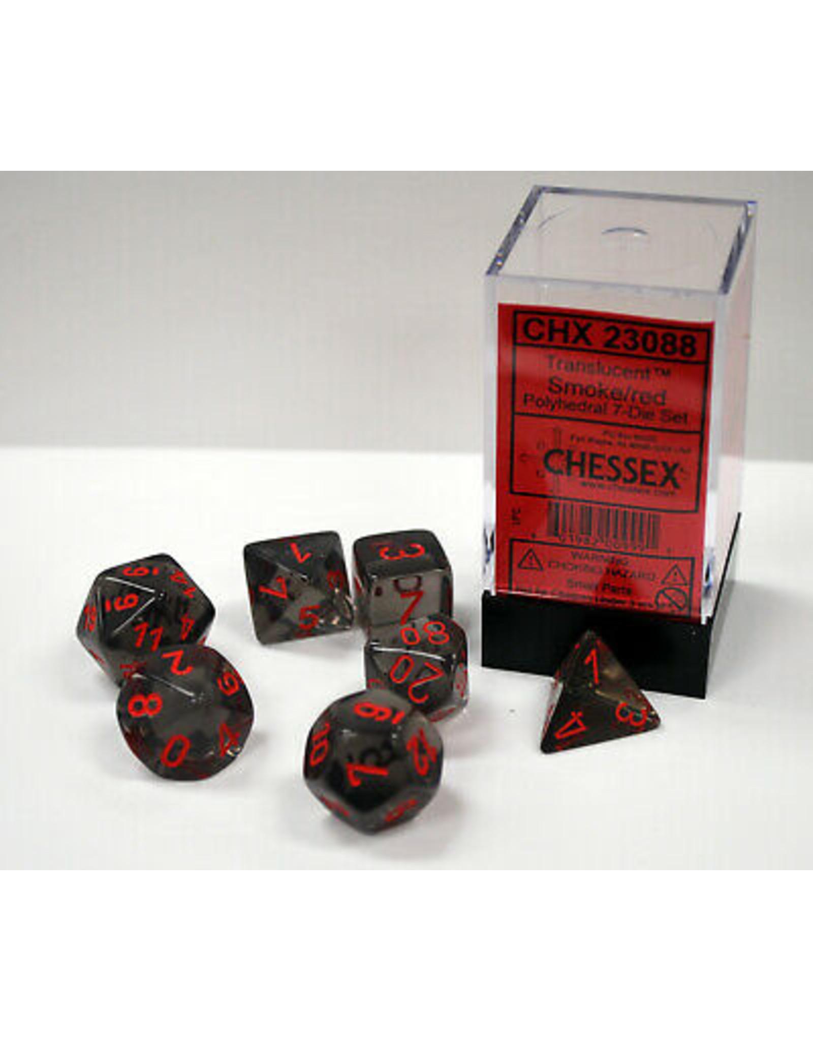 Chessex Translucent Smoke/Red Set (7)
