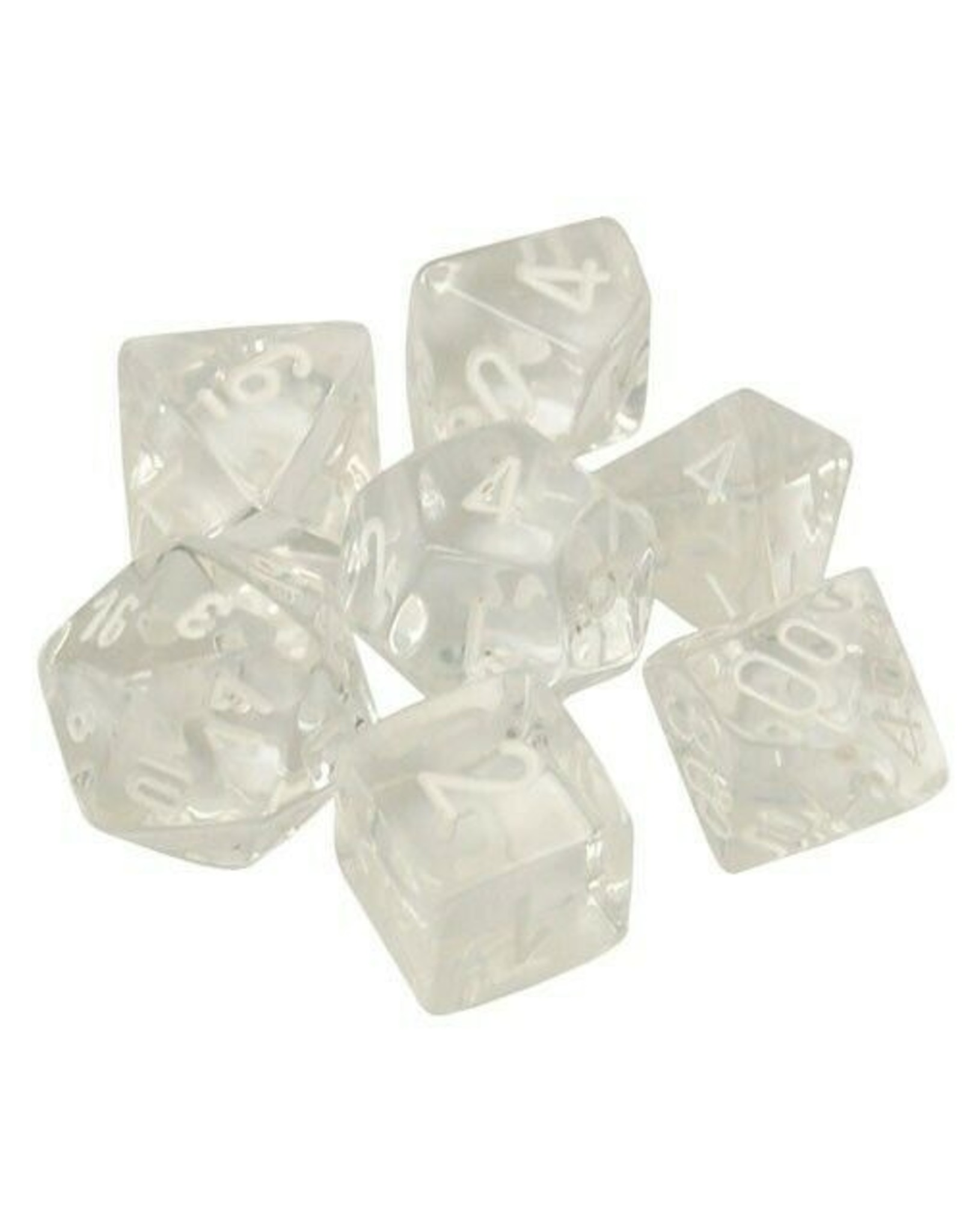 Chessex Translucent Clear/White Set (7)