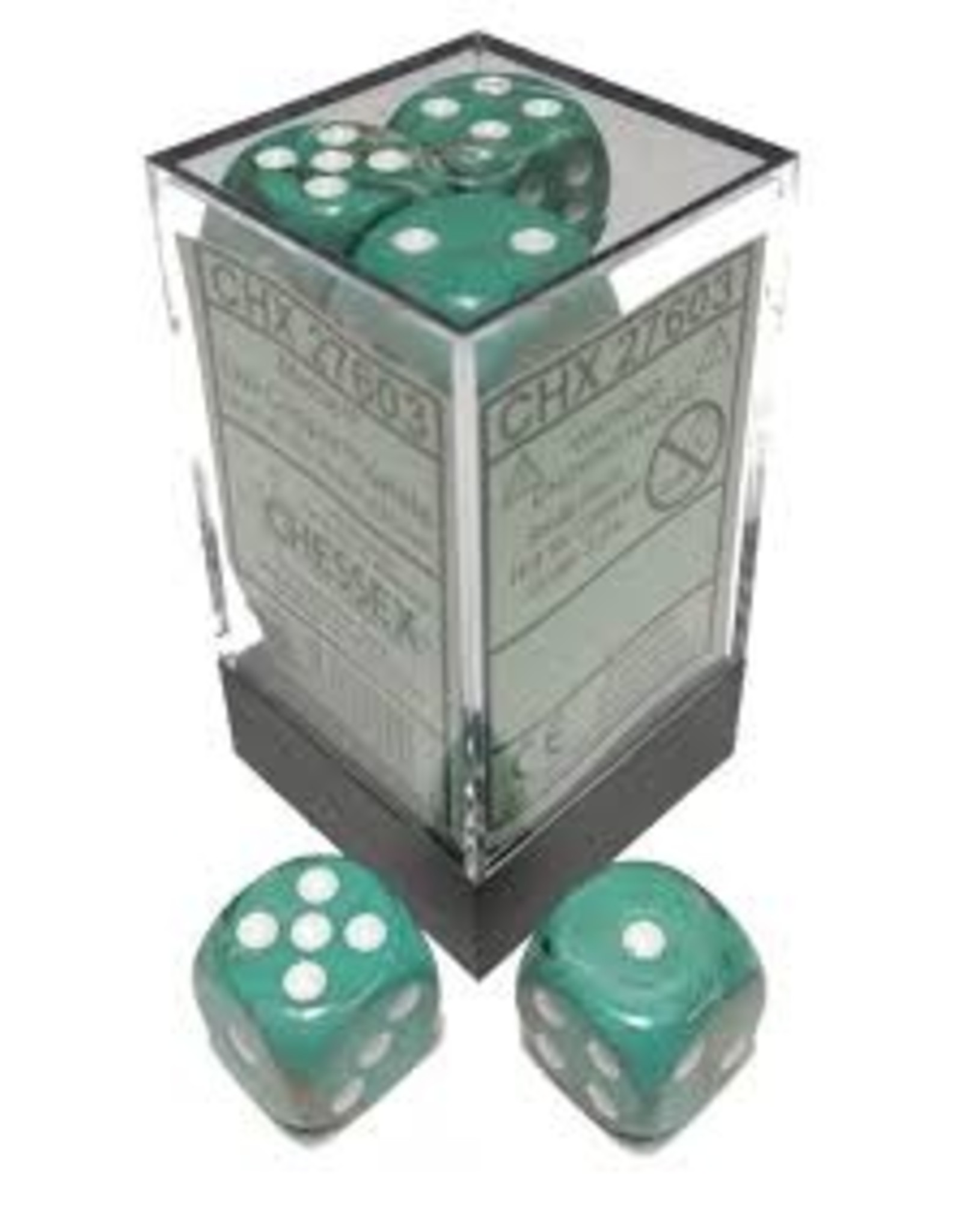 Chessex d6Cube 16mm Marble Oxi-CP wh