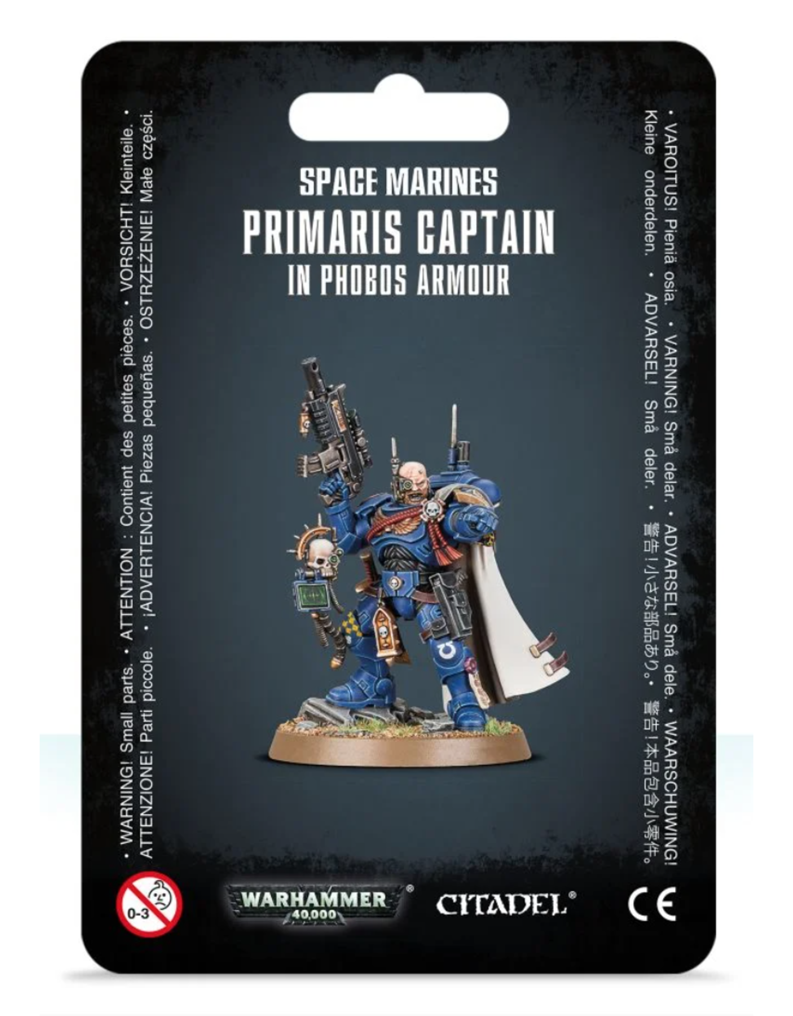 Warhammer 40K Space Marine Primaris Captain In Phobos Armour