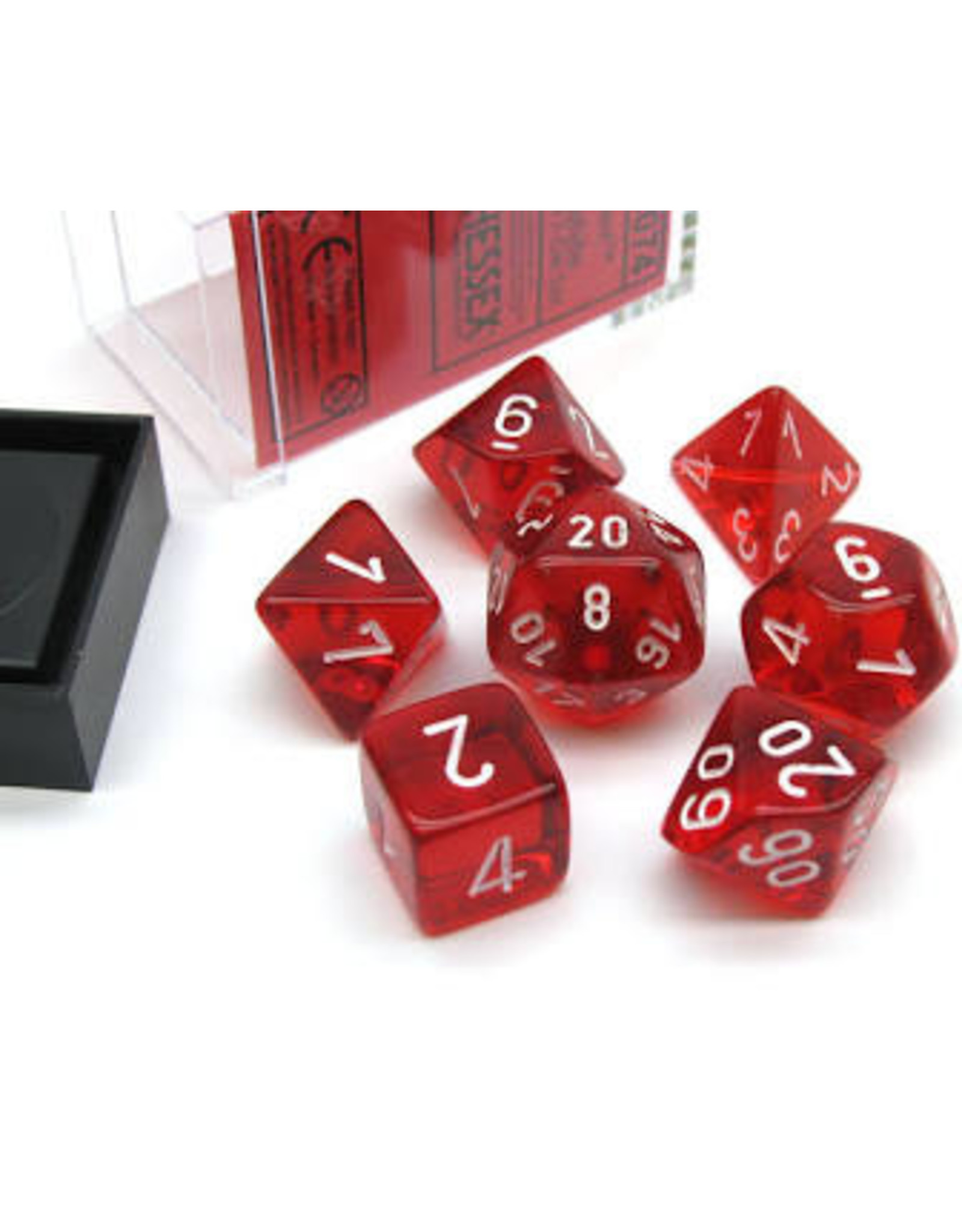 Chessex 7-Set Polyhedral CubeTR RDwh