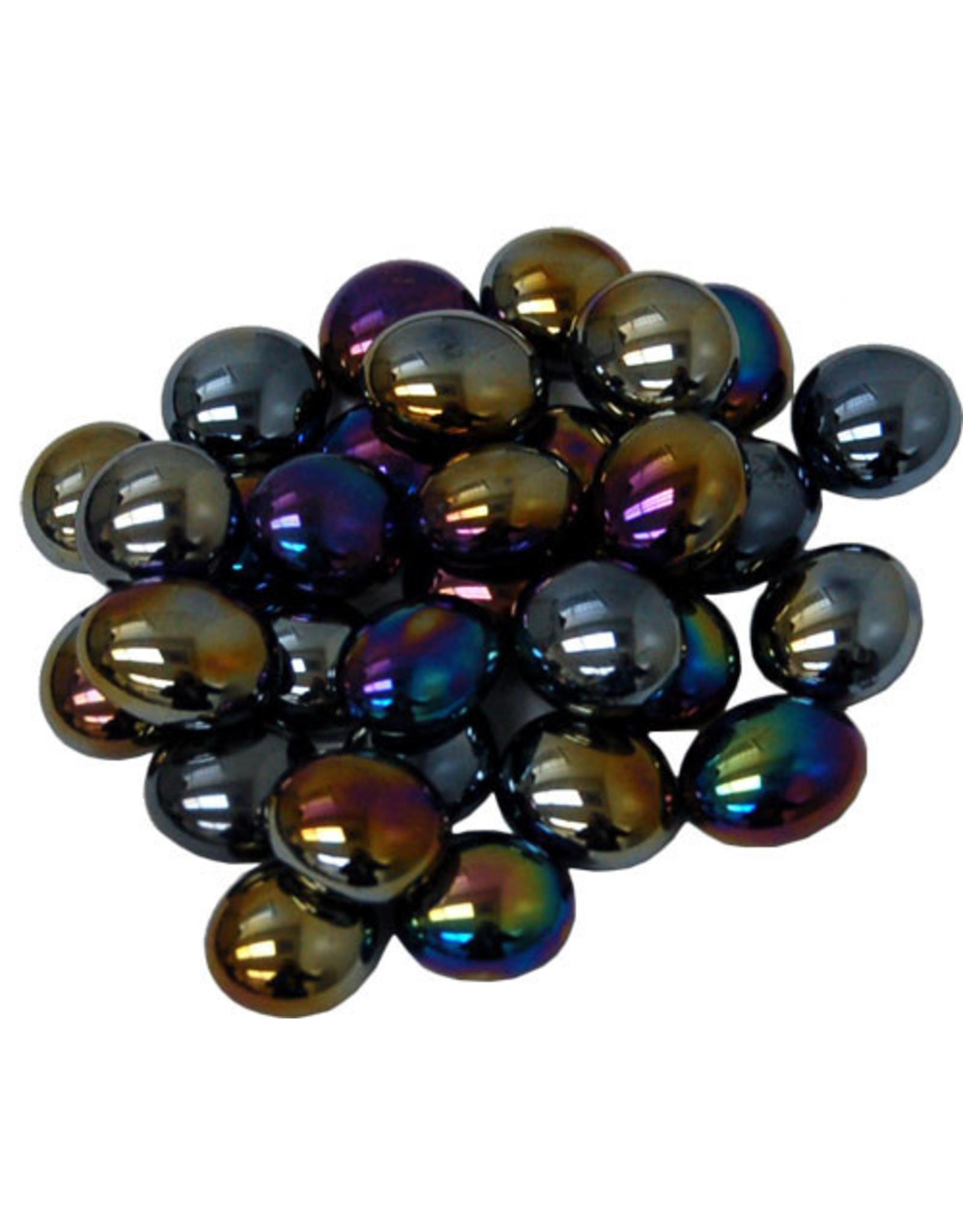 Chessex GlassStonesTube: Opal Iridized BK