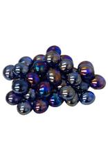Chessex GlassStonesTube: Crystal Iridized DKBU