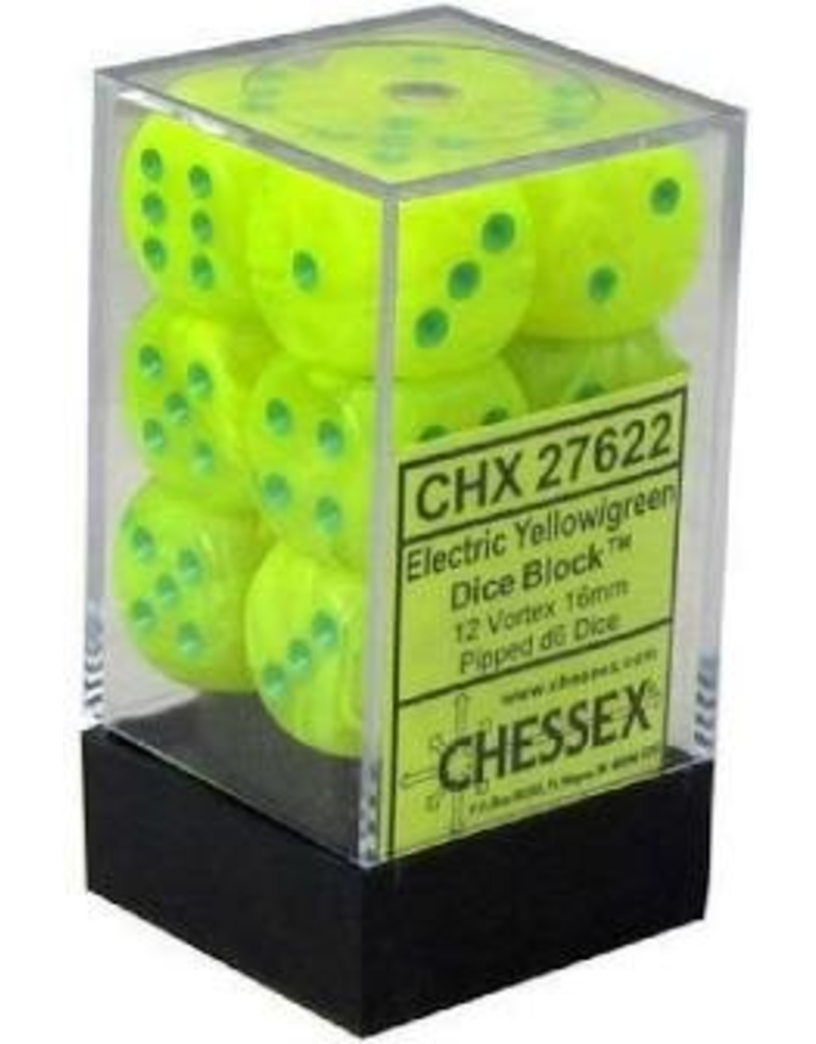 Chessex D6Cube16mm Vortex Electric YEgn (12)