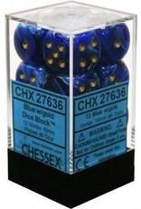 Chessex Vortex Dice - Blue/Gold D6