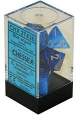 Chessex 7-Set Polyhedral Vortex Dice - Blue/Gold