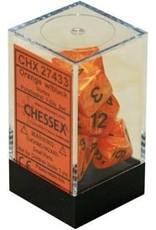 Chessex 7-Set Polyhedral Vortex Dice - Orange/Black