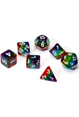 Dice 7-set TR Rainbow wh