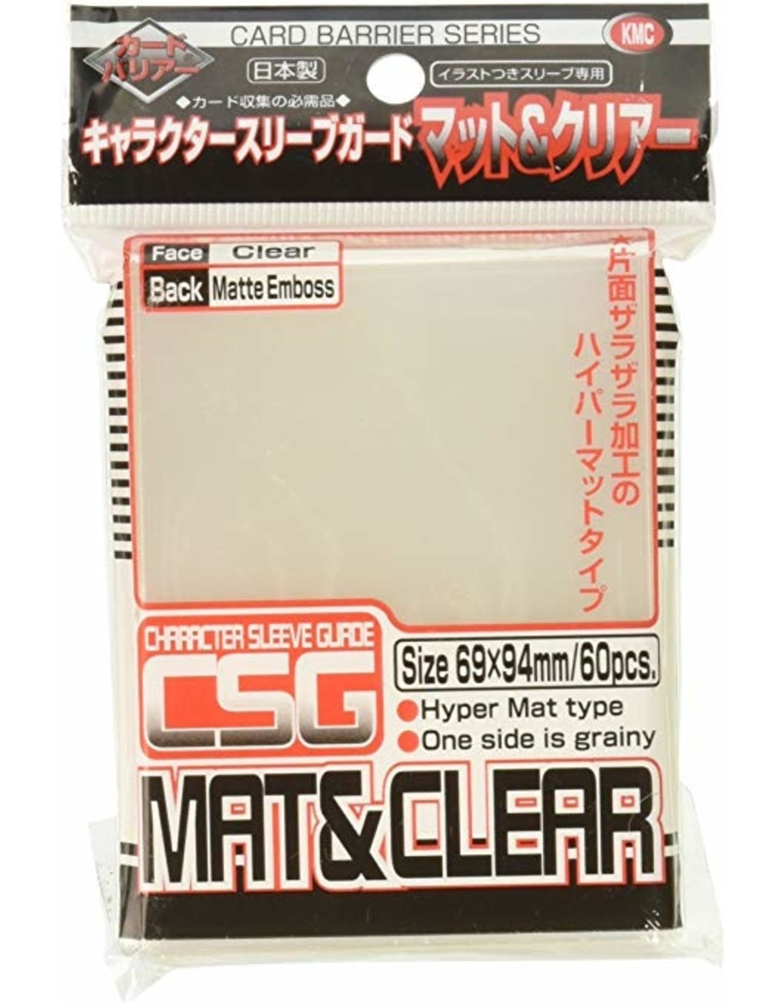 KMC KMC SLEEVE: Character Guard Clear Matte