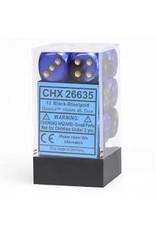 Chessex d6Cube16mmGemini#3 BKBUgd (12)