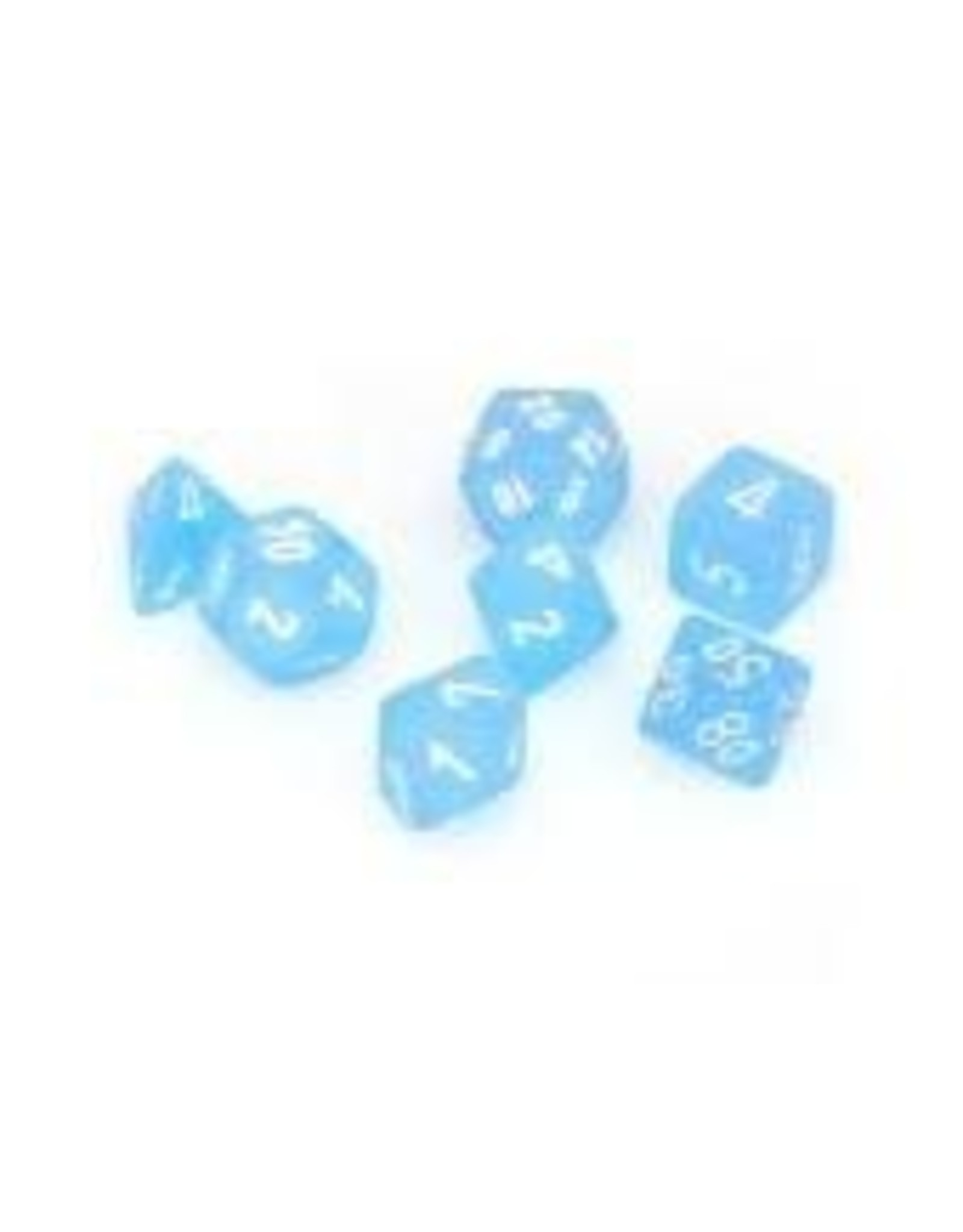 Chessex 7-Set Polyhedral Frosted Caribbean Blue