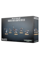 Warhammer 40K Space Marine Scout with Sniper Rifles