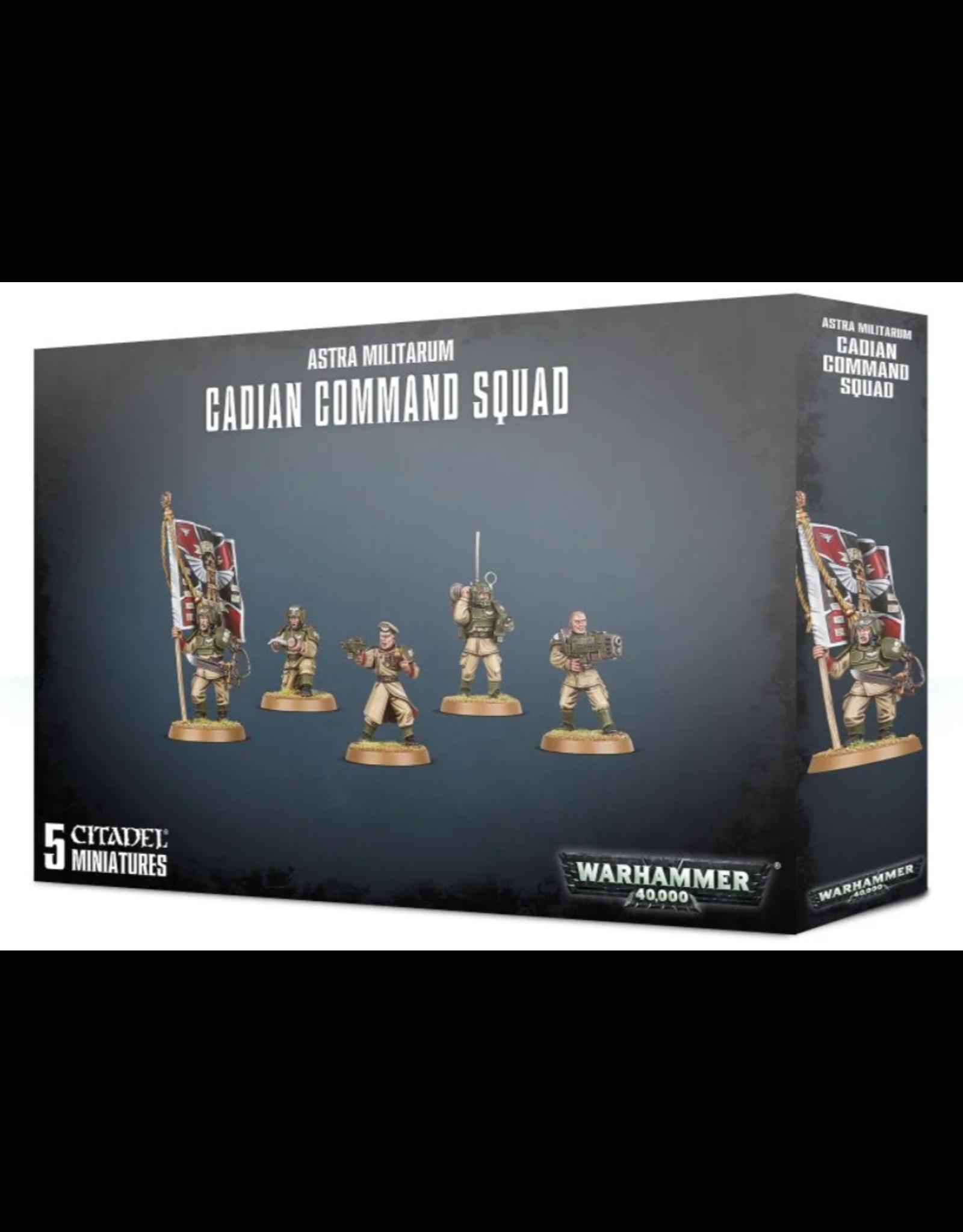 Warhammer 40K Astra Militarum Cadian Command Squad