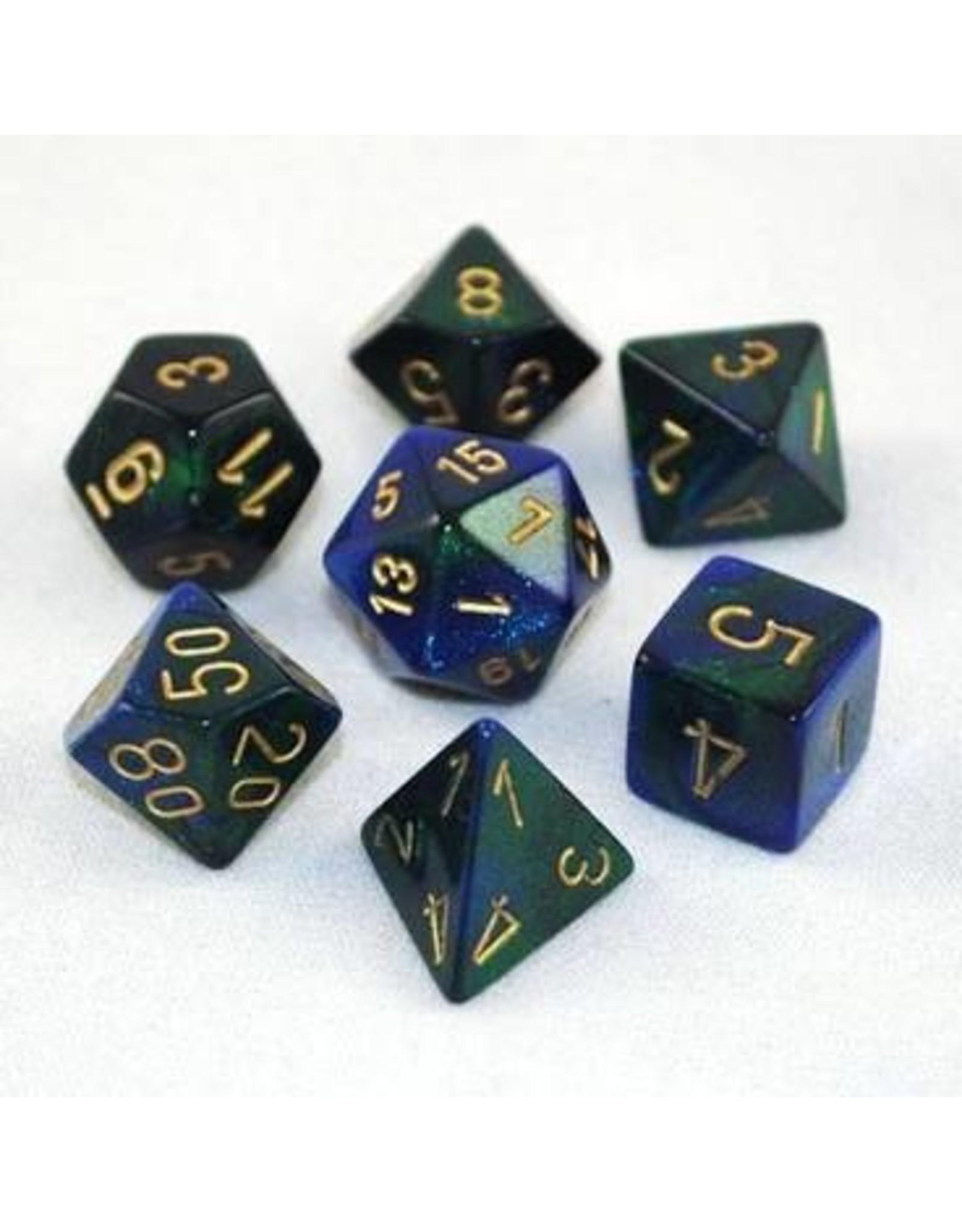 Chessex 7-Set Polyhedral CubeGemini#3 BUGRgd