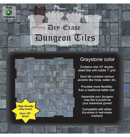 """Dungeon Tiles: Graystone: 10"""" Square (9)"""