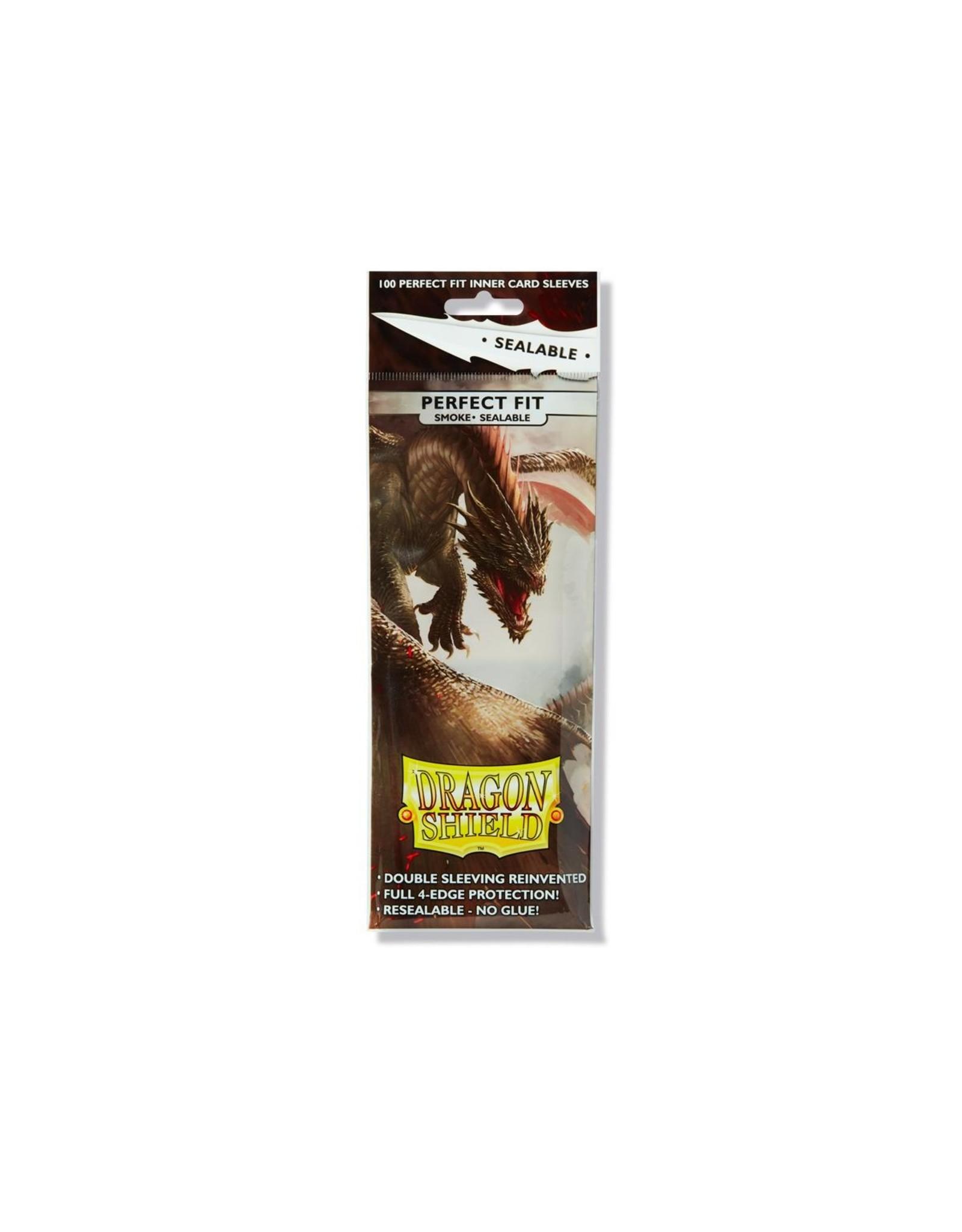 Dragon Shield Perfect Fit Sealable: (100) Smoke