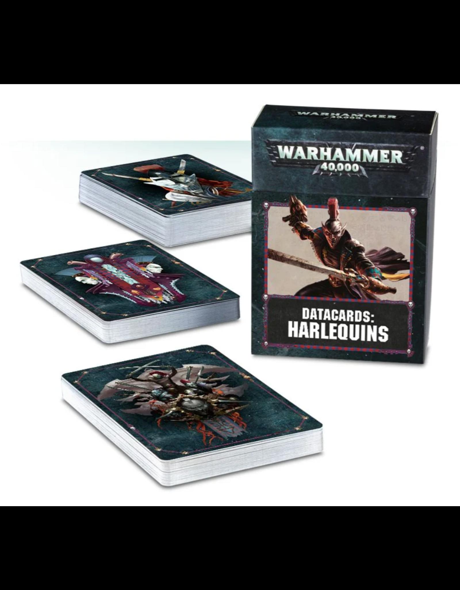Warhammer 40K Harlequins Datacards