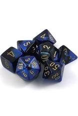 Chessex 7-Set Polyhedral CubeGemini#3 BKBUgd
