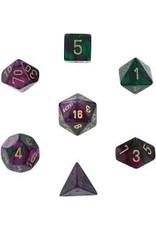Chessex 7-Set Polyhedral CubeGemini#3 GRPUgd