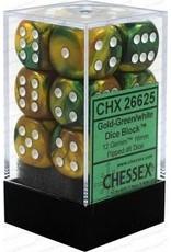 Chessex d6Cube16mmGemini GDGNwh (12)