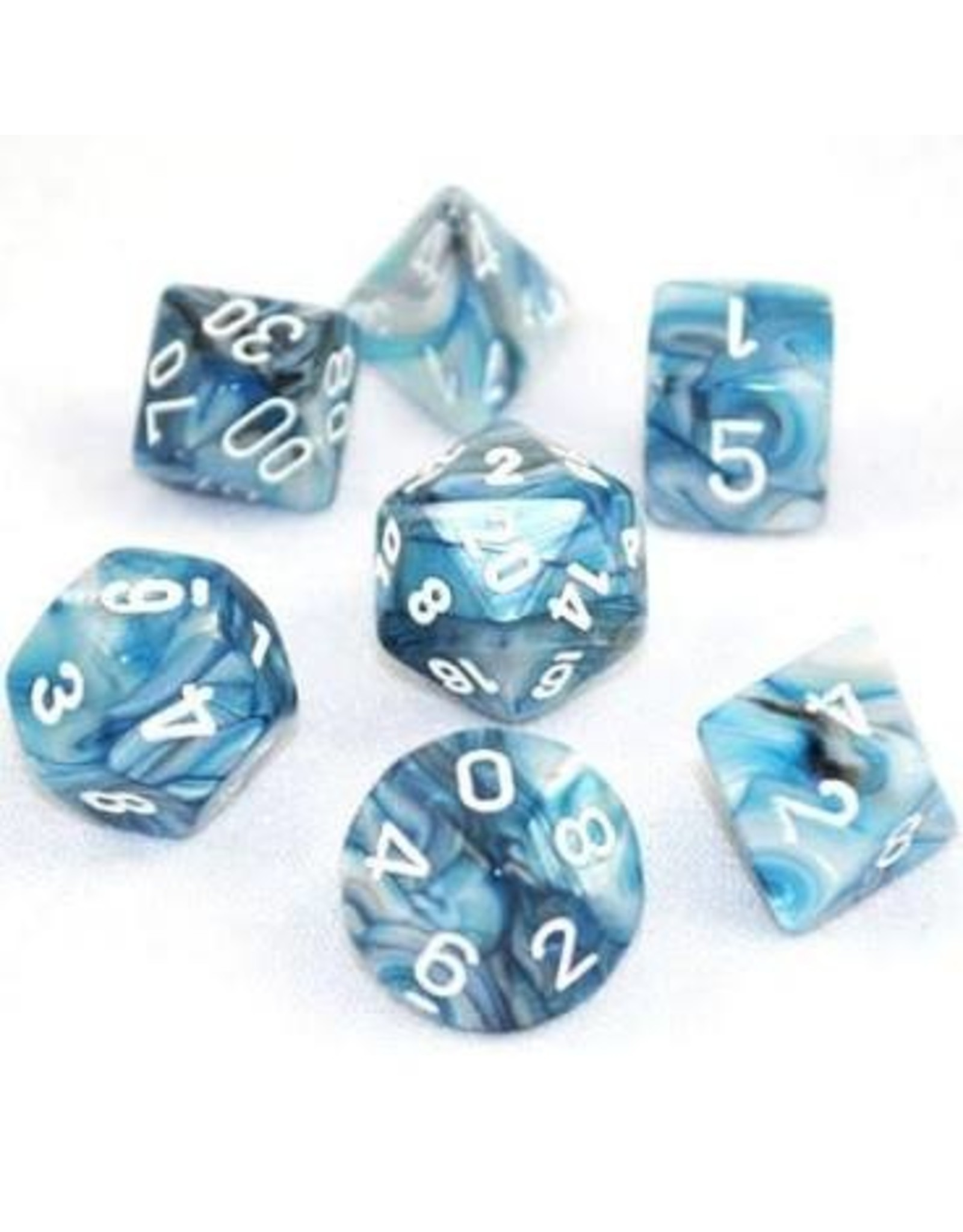 Chessex 7-Set Polyhedral Dm7 Lustrous Slate/white