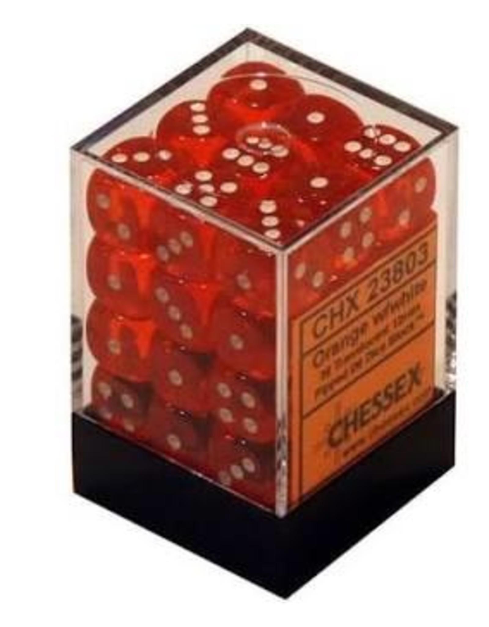 Chessex d6Cube12mmTR ORwh (36)