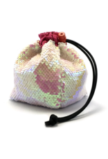 Mermaid Reversible Sequin Dice Bag - Opalescent Pink/White