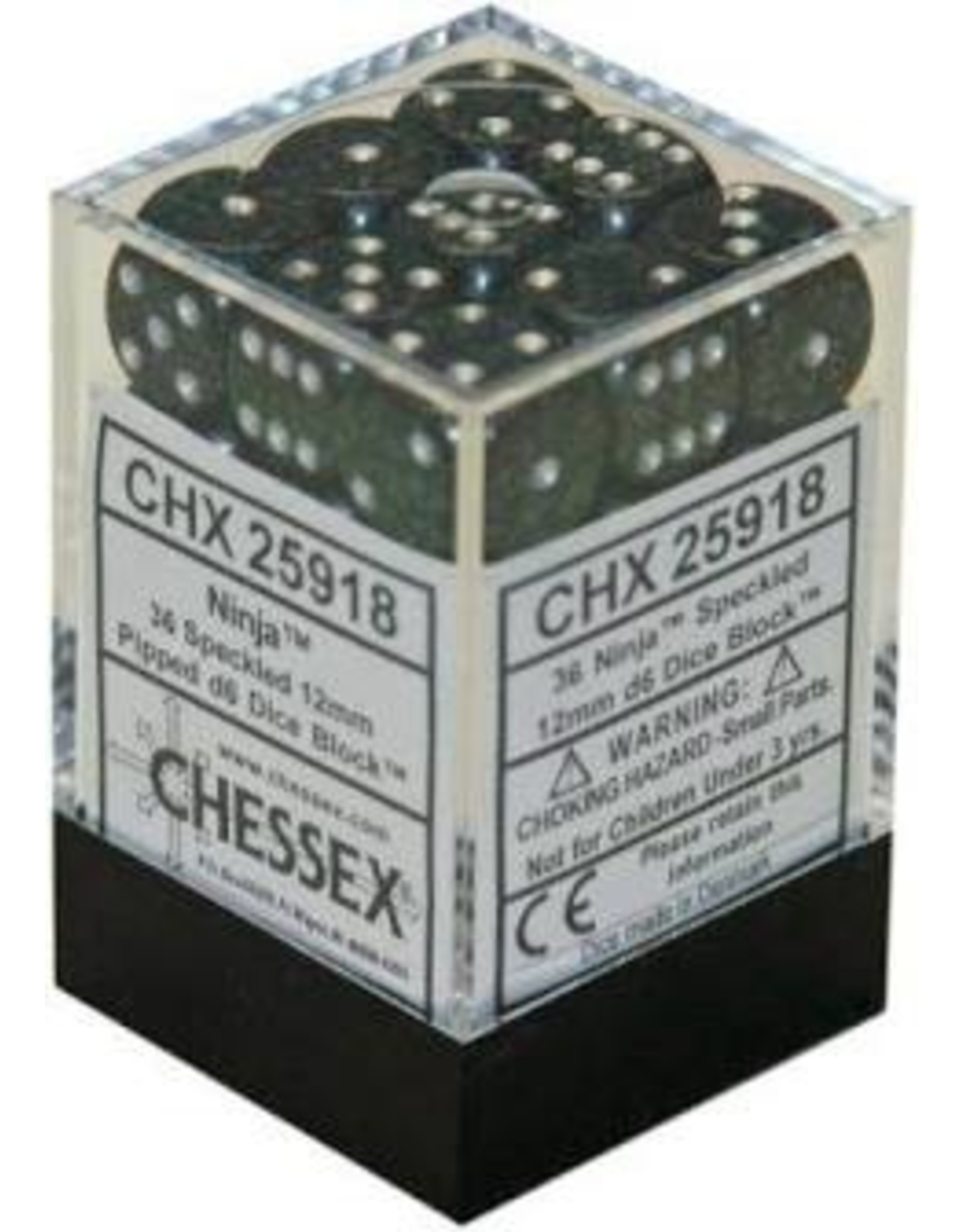 Chessex Ninja Speckled 12mm d6 (36)