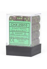 Chessex d6Cube12mmSP Earth (36)
