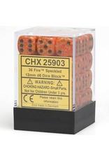 Chessex 6Cube12mmSP Fire (36)