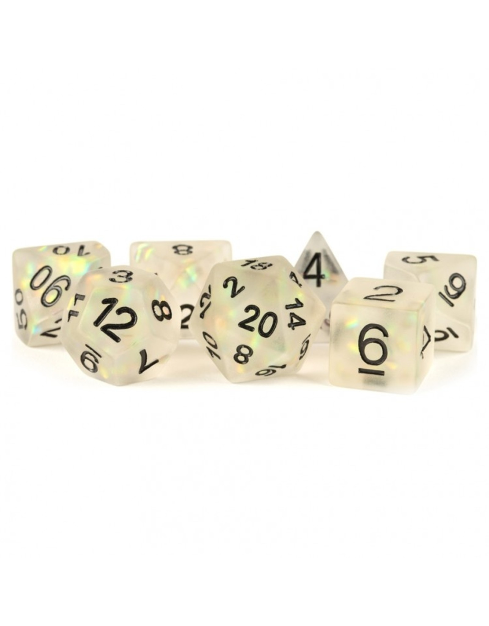 Dice 7-Set: Icy Opal Clear-Black