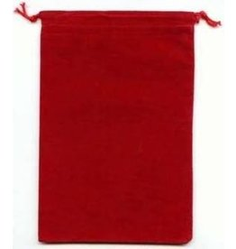 Dice Suedecloth dice bag, lg red