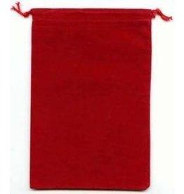 Suedecloth dice bag, lg red