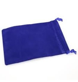 Suedecloth dice bag, sm blue