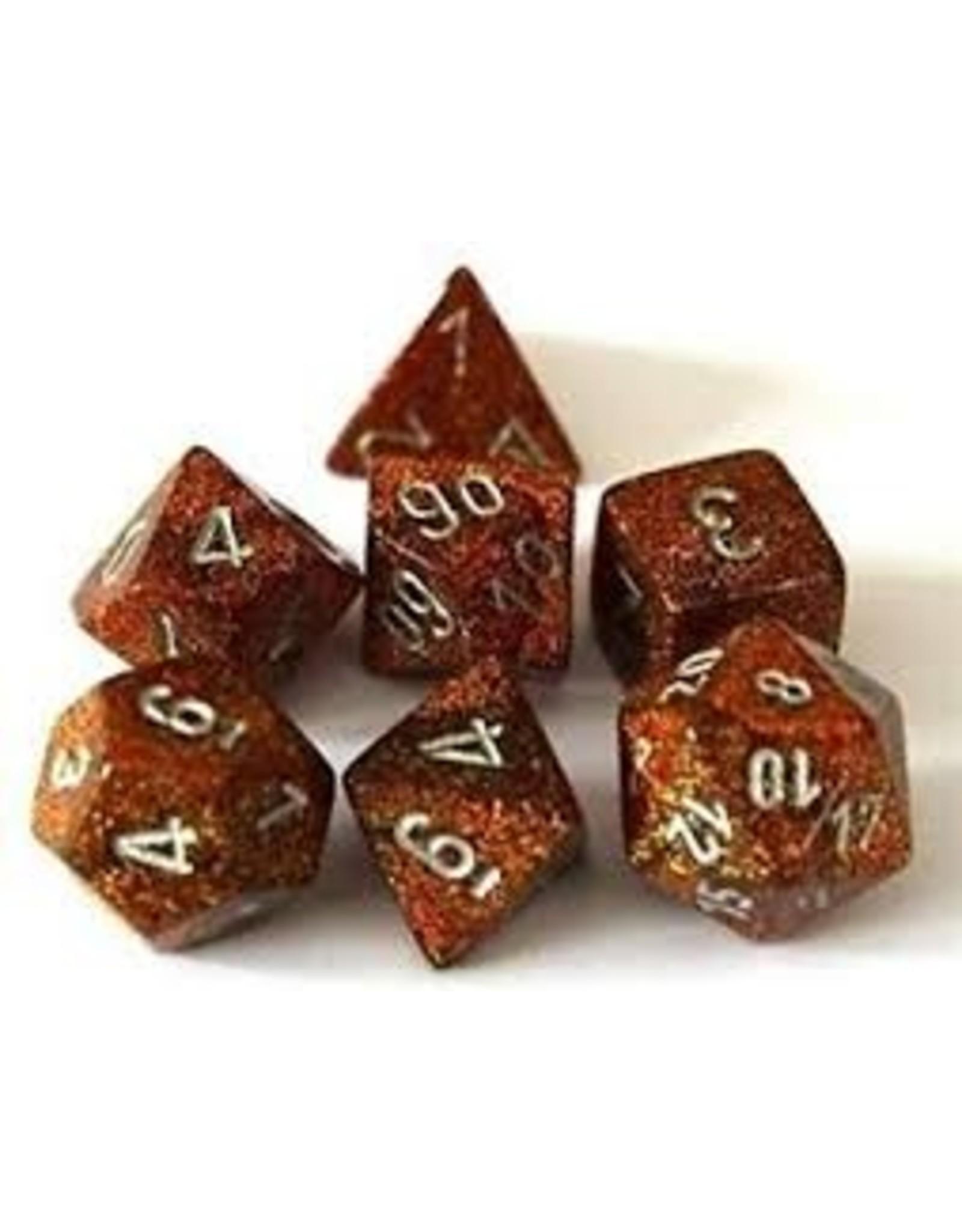 Chessex 7-Set Polyhedral Cube Glitter GDsv