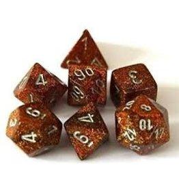 Dice 7-setCube Glitter Polyhedral GDsv (7)