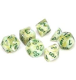 Chessex Poly Marble Green/Dark Green (7)