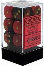 Chessex d6Cube16mmGemini#3 BKRDgd (12)