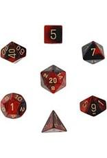 Chessex 7-Set Polyhedral CubeGemini#3 BKRDgd