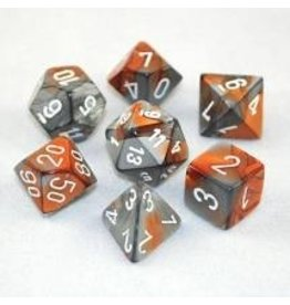 Dice Gemini Poly Copper Steel/white