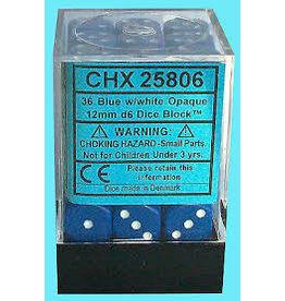 Chessex d6Cube12mmOP BUwh (36)