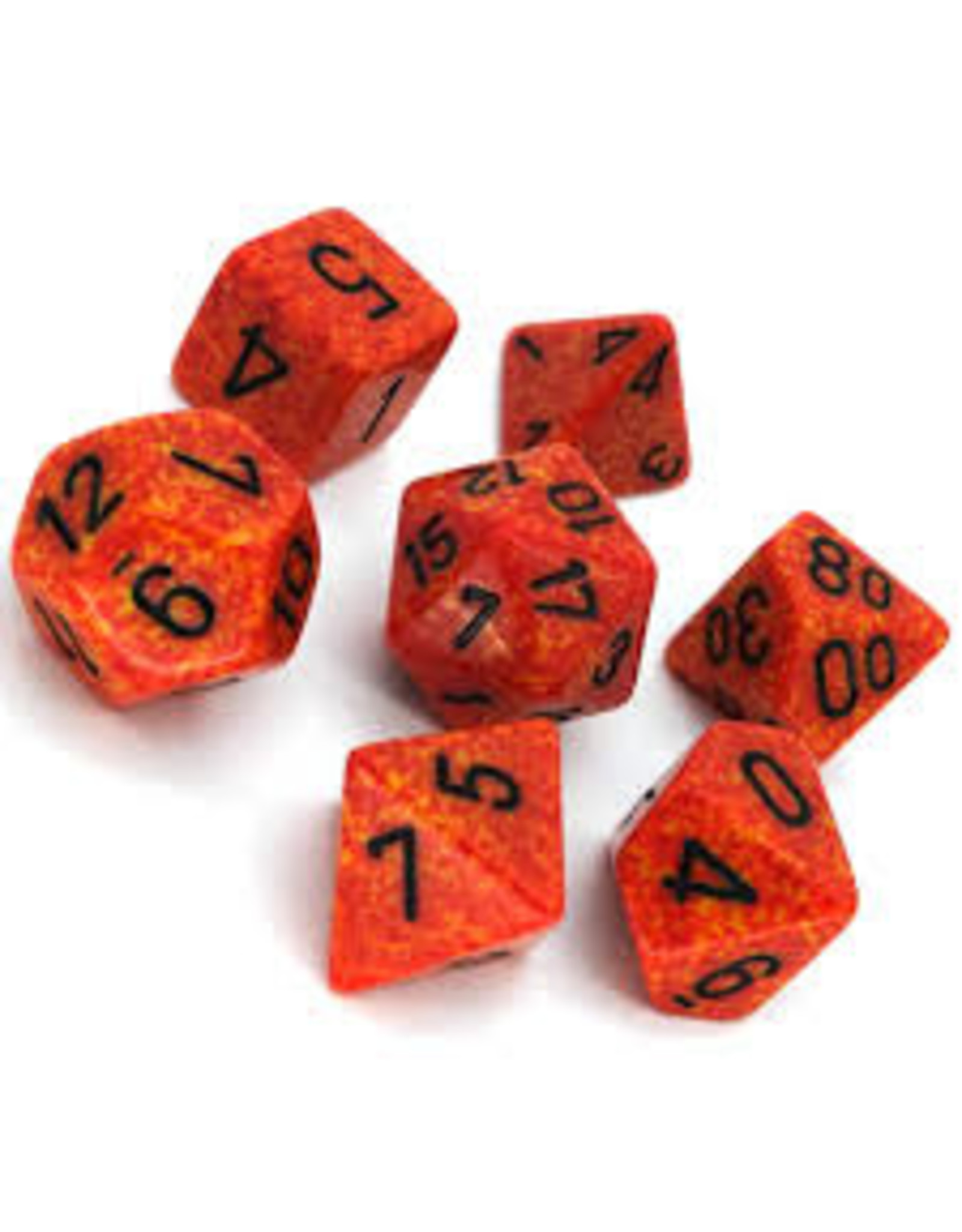 Chessex 7-Set Polyhedral Fire