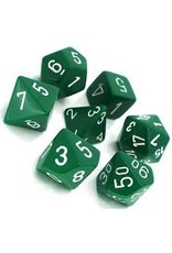 Chessex 7-Set Polyhedral Opaque: Green With White
