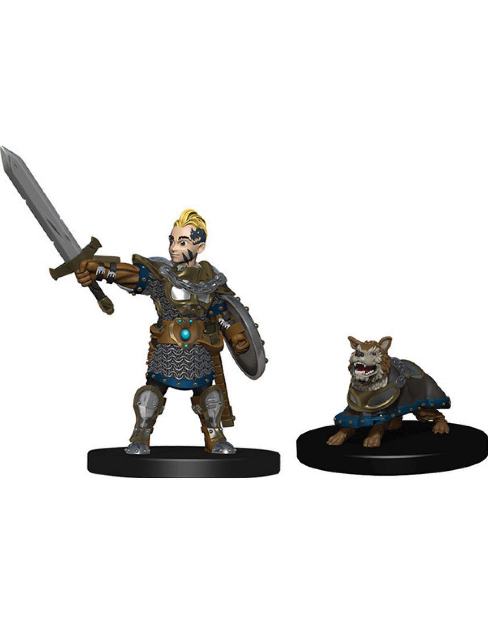 Wiz Kids Wardlings: Boy Fighter & Battle Dog