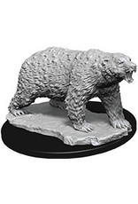 Wiz Kids D&D Unpainted Miniatures: W9 Polar Bear