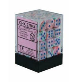 Chessex d6Cube 12mm Festive Pop-Art bu