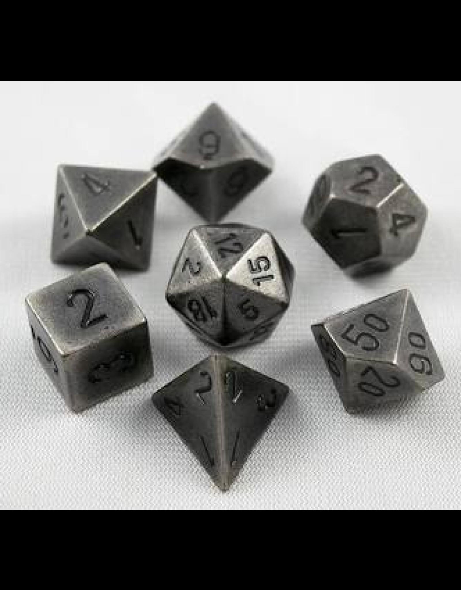 Chessex 7-Set Polyhedral metal: Dark Metal