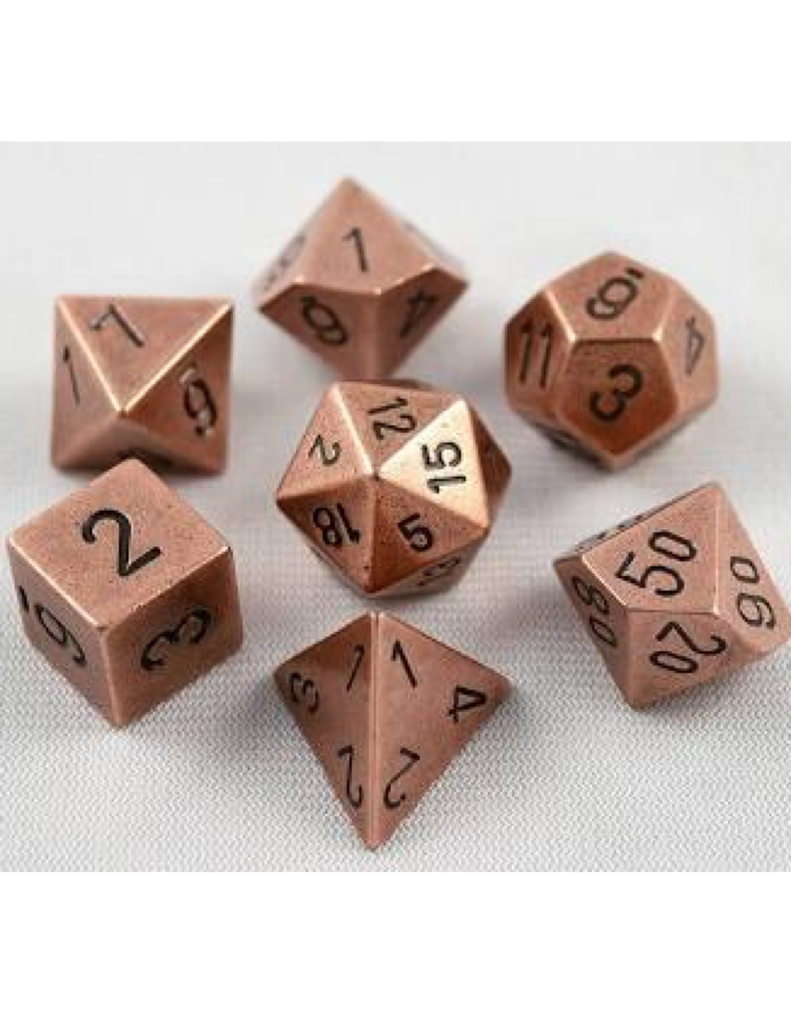 Chessex 7-Set Polyhedral metal: Copper