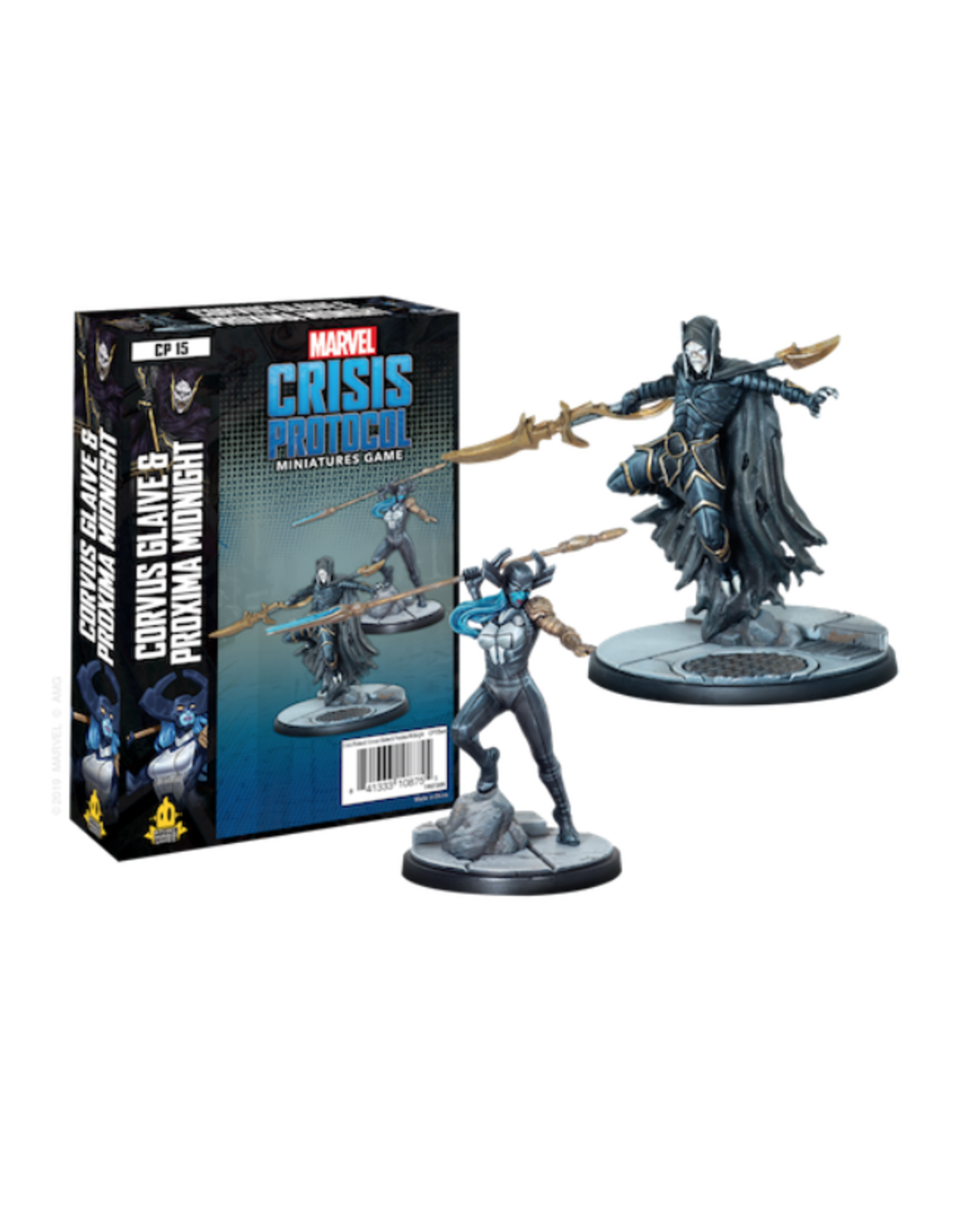 Asmodee Marvel: Crisis Protocol - Corvus Glaive and Proxima Midnight Character Pack