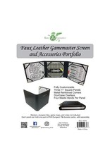 Role Playing Portfolio: Faux Leather GM Screen & Accessories Portfolio